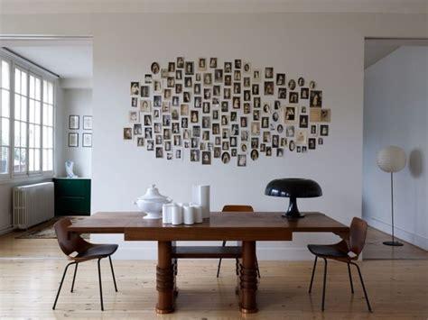 inspiratie voor een creatieve fotocollage tegen de muur