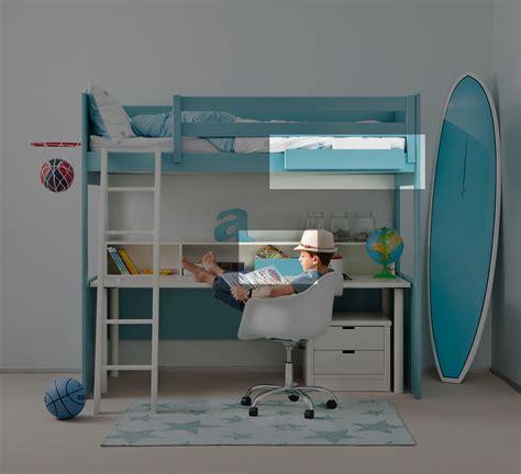 lit mezzanine bureau ado pack d 39 access lit mezzanine liso xl à prix so câ