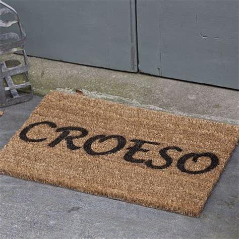 Croeso Doormat by Croeso Door Mat Mat Drws Croeso Bodlon