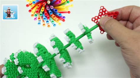 How To Make A Drinking Straws Christmas Tree For Your