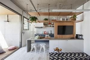 Apê de 65 m² com decoração industrial e toques ...