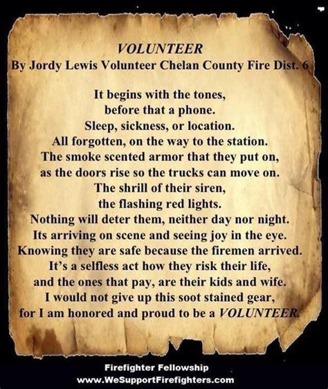 volunteer firefighter poem firefighting pinterest