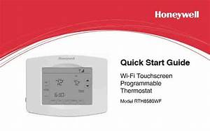Honeywell Wifi Thermostat Rth8580wf Manual