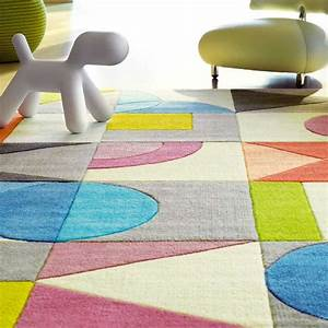tapis design multicolore formes geometriques par arte espina With tapis design luxe