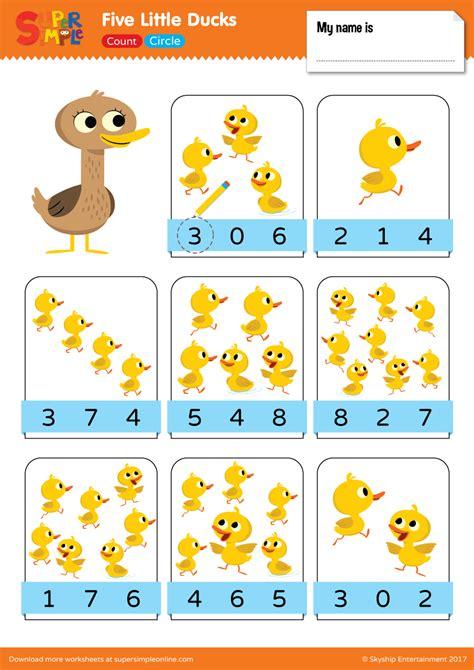 ducks count circle  duck duck