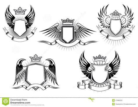 coat of arms template wings plantillas reales del escudo de armas ilustraci 243 n del