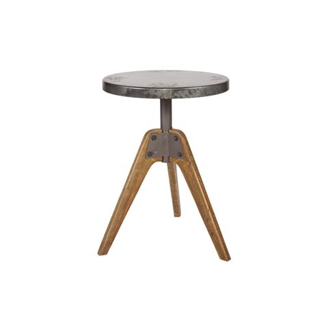 table basse industrielle metal et bois table basse industrielle en bois et m 233 tal drawer