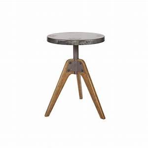 Table Basse Ronde Industrielle : table basse industrielle en bois et m tal drawer ~ Teatrodelosmanantiales.com Idées de Décoration