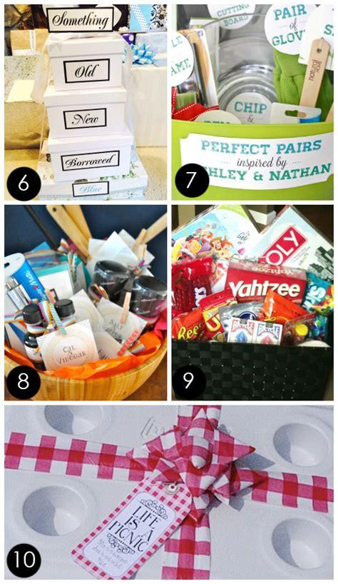 wedding shower gift basket ideas 60 best creative bridal shower gift ideas