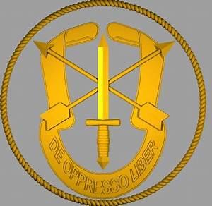 3D 3dm green beret emblem