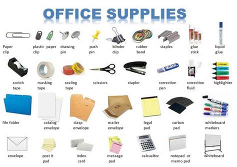 and equipment vocabulary with pictures lesson office supplies business lesson Office