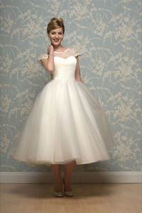 lilyanna tea length wedding dress with sleeves by white With calf length wedding dresses
