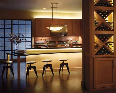 Kitchen Lighting : Modern Kitchen Over Cabinet Lighting