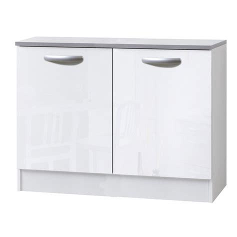 portes de meubles de cuisine meuble de cuisine bas 2 portes blanc brillant h86x l120x