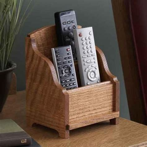 remote control holder woodworking plan gifts