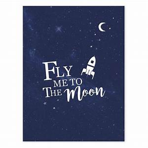 Lilipinso Fly me to the moon Poster ǀ minideco co uk