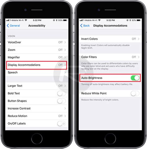 ios 11 auto brightness feature how to enable or disable it iphone redmond pie