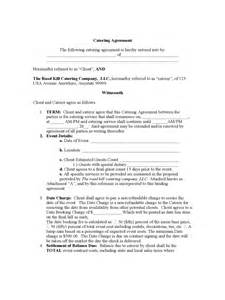catering contract template 6 free templates in pdf word