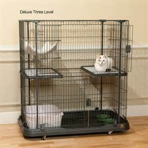 cat cages indoor prevue pet deluxe cat home with three levels cat cages and