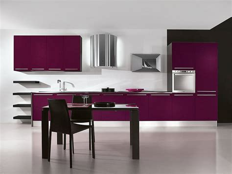 kitchen cabinets purple kitchens Purple