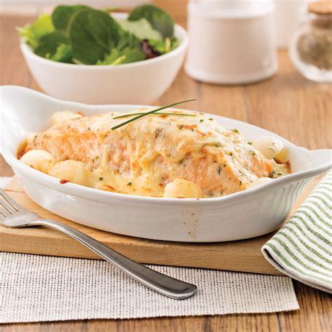 cuisiner filet de saumon gratin de saumon et pommes de terre à l 39 aneth soupers de