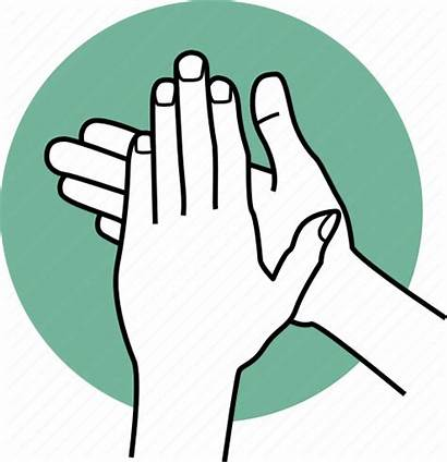 Hands Sanitize Icon Disinfect Clean Palm Icons