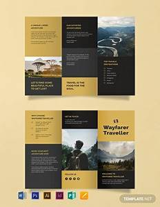 Services Invoices Free Tri Fold Travel Brochure Template Word Doc Psd
