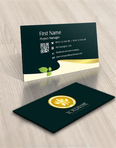 design green kitchenware logo  business card