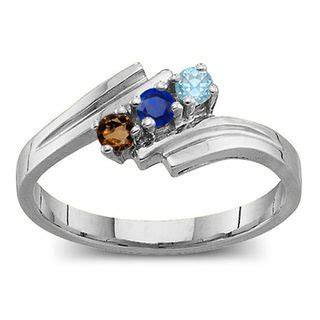 design your own mothers rings s birthstone bypass ring 2 7 stones