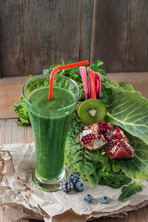smoothie kale kiwifruit juice recipes chard spinach blueberries healthsomeness