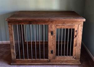custom dog kennel crate furniture hinged door coffee or With custom wood dog kennels