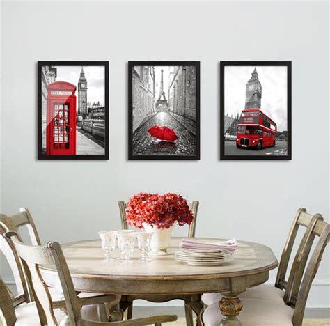 modern classic scenery black  white red london bus