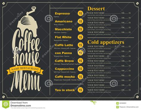 Coffee House Menu For A Price List Vector Illustration Black And Decker Coffee Maker Space Saver Design Your Own To Go Cup Vacuum Grinder Nonton A Xxi Dcm 25 Loud Mespil Road Dublin