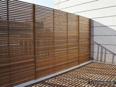 panneau brise vue bois brise vue la terrasse nouvelle