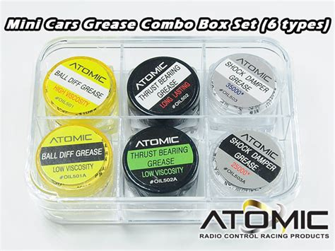 Mini Cars Grease Combo Box Set (6 Types) Öl/kleber Öle