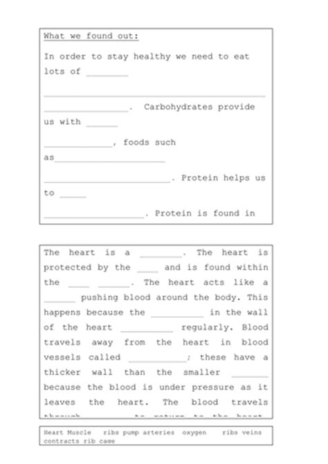 the heart worksheet resources by hilly577 teaching resources