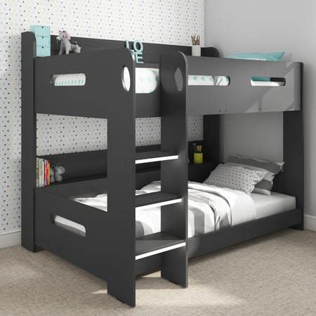 bunk beds rooms to go sky bunk bed in dark grey ladder can be fitted either 18394 | SKY005A 1 LargeProductImage