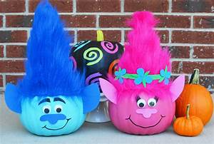 Craft Create Cook - Troll Pumpkins to make for Halloween