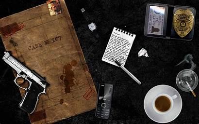 Aesthetic Detective Desktop Crime Computer Fiction Police