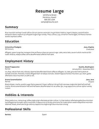 resume print sided sle resume 183 resume
