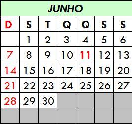 feriados calendario datas comemorativas