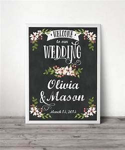 custom chalkboard welcome sign wedding welcome sign With chalkboard wedding shower signs