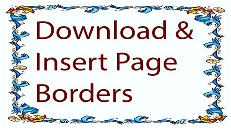 microsoft word   create coustom page borders