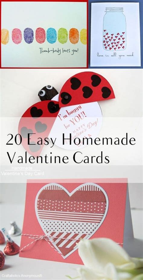 easy homemade valentine cards  images easy