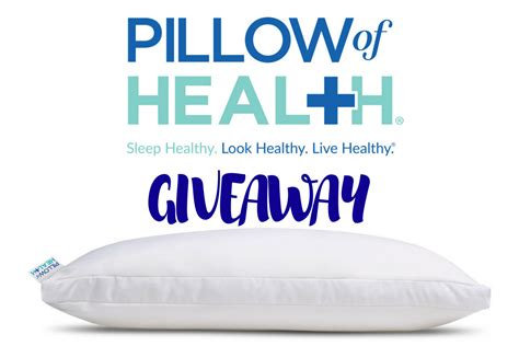 pillow of health pillow of health giveaway undercover