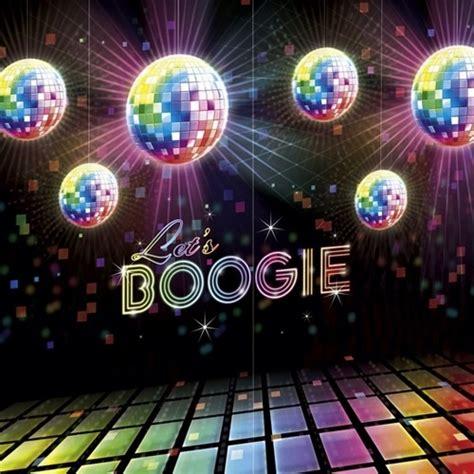 party deko disco party wandposter boogie