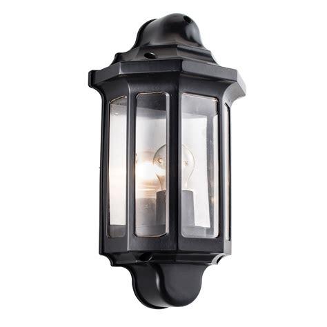 endon traditional half lantern outdoor porch wall light