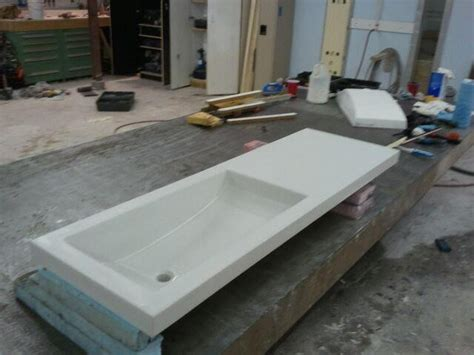 integrated bathroom sink and countertop concrete countertop with integrated sink contemporary