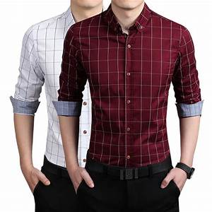 men shirts with long sleeves 2015 new brand spring summer ...