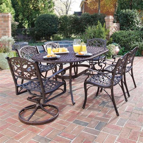 shop home styles biscayne 7 rust bronze aluminum